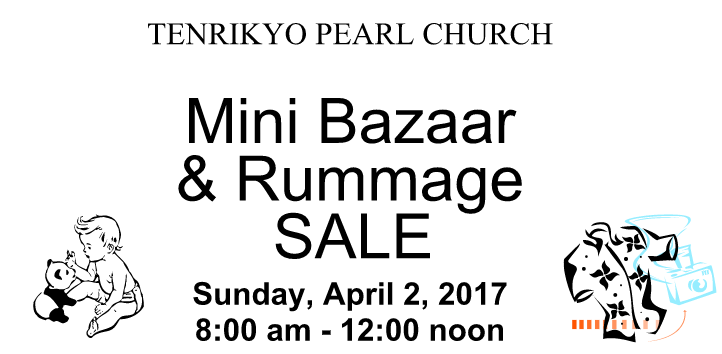 Annual BGA Spring Camp and Pearl Church Mini Bazaar & Rummage Sale 2017